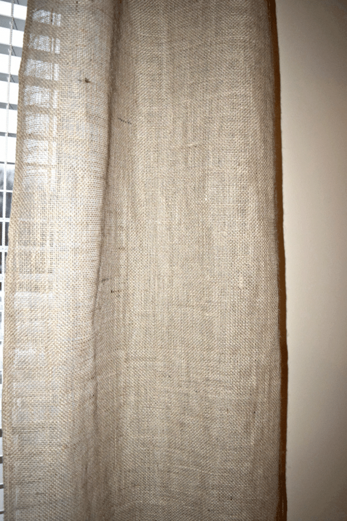 One Afternoon Project Easy Diy Burlap Curtains Our Home Made Easy