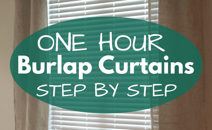One Afternoon Project: Easy DIY Burlap Curtains