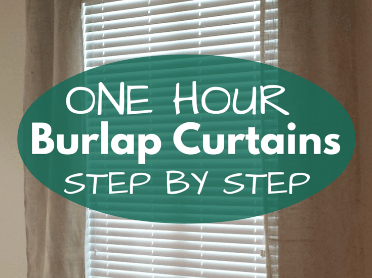 An easy and quick step by step 'how-to' for making burlap curtain panels! I made these for less than $12 in burlap!