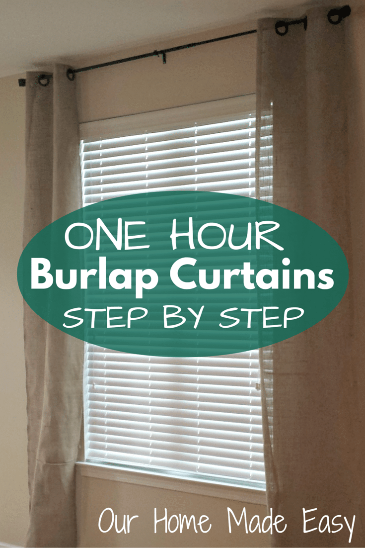 One Afternoon Project: Easy DIY Burlap Curtains • Our Home ... | 735 x 1102 png 321kB