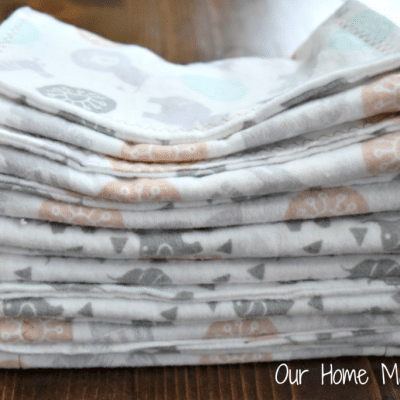 Homemade Baby Burp Cloths