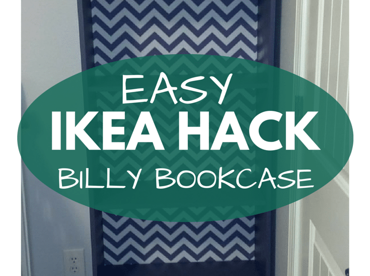 A Before & After of our IKEA Billy Bookcase for our little girl's nursery! Click through to see the before!