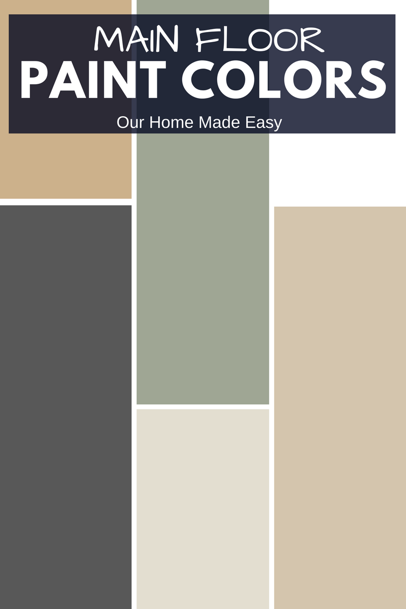 An easy way to create a whole house paint color scheme!