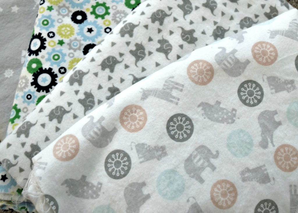 These homemade baby blankets are made with the cutest fabric that's perfect for your new little bundle of joy