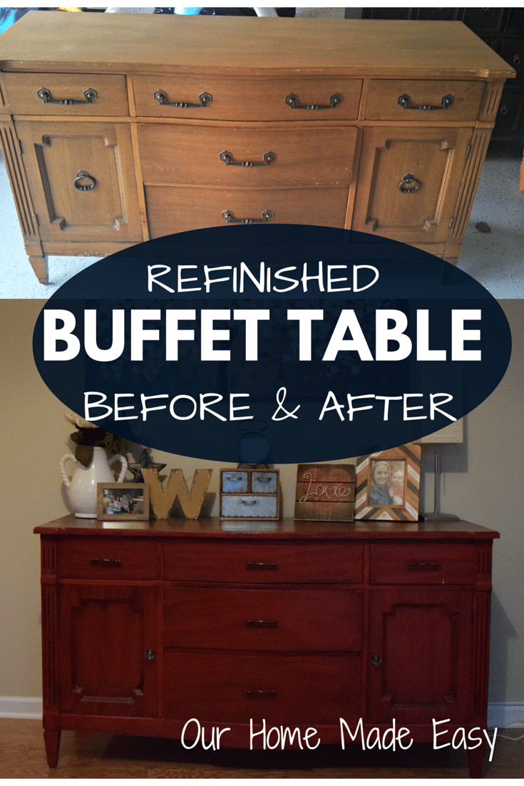 Refinished Buffet Table How To : Before & After
