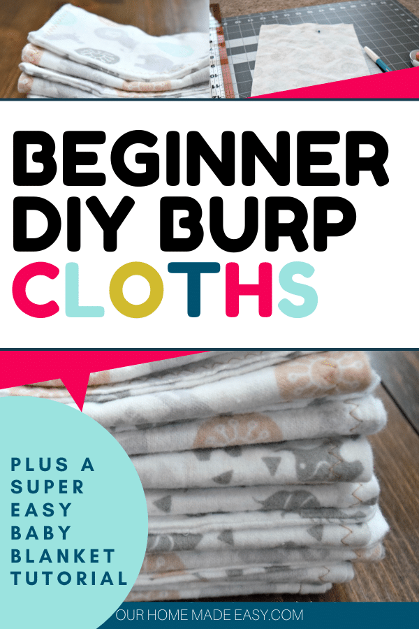 how to make baby burp cloths