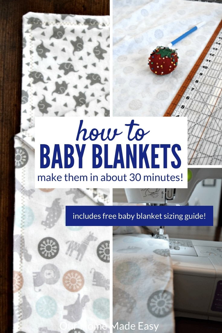 Have you ever wanted to make easy baby blankets? You can make them i less than 30 minutes! Find the perfect fabric, wash it, and begin sewing!
