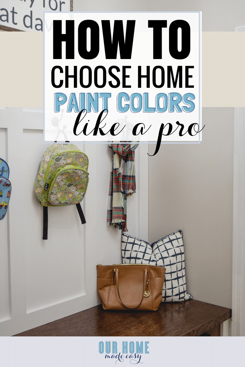 Wondering how to choose paint colors? This is the easiest trick to creating a whole house color scheme every time! Click to see how to do it yourself!