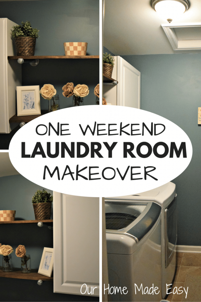 We updated our laundry room decor in one weekend! Here's a review of the before and after