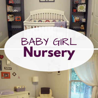 Sweet Purple Baby Girl Nursery