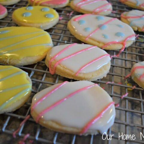 Easter Egg Sugar Cookies with Homemade Icing