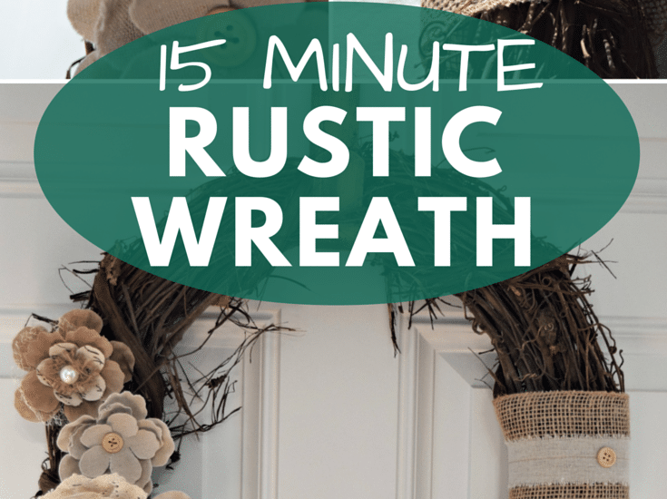 How To make a cute wreath in less than 15 minutes!