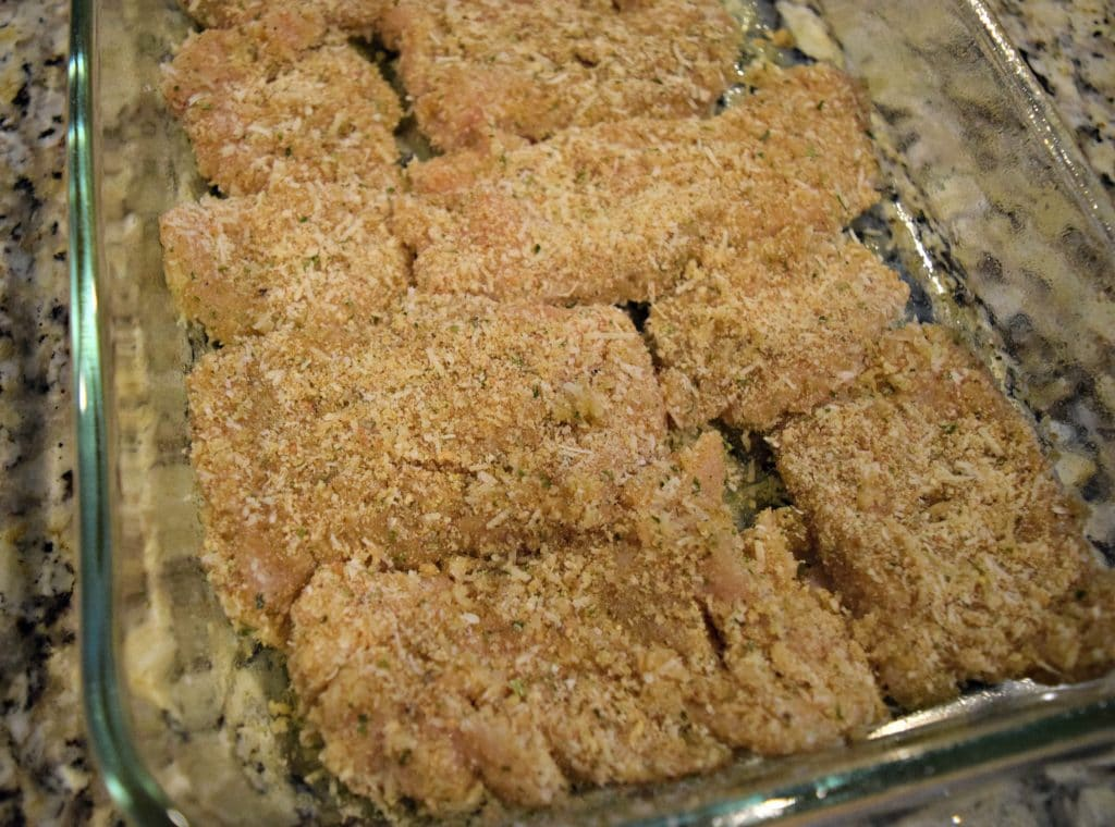 An easy baked chicken recipe. Perfect for serving alone or on top salads. Click to see the recipe!
