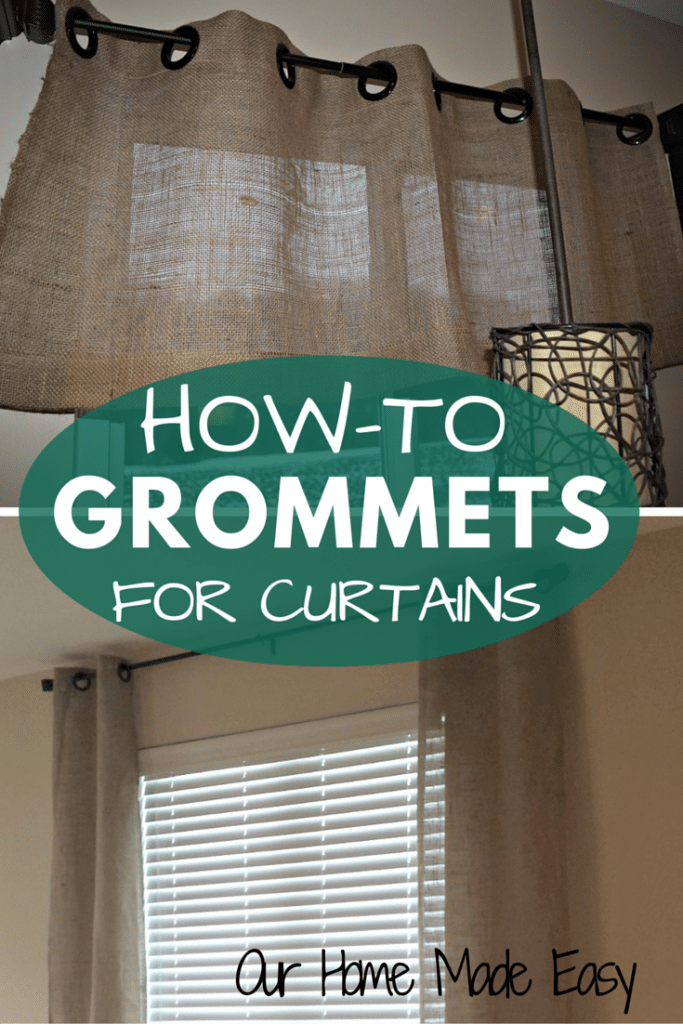 Adding grommets to curtain panels is easy and can be completed in less than 10 minutes! Check out the tutorial!