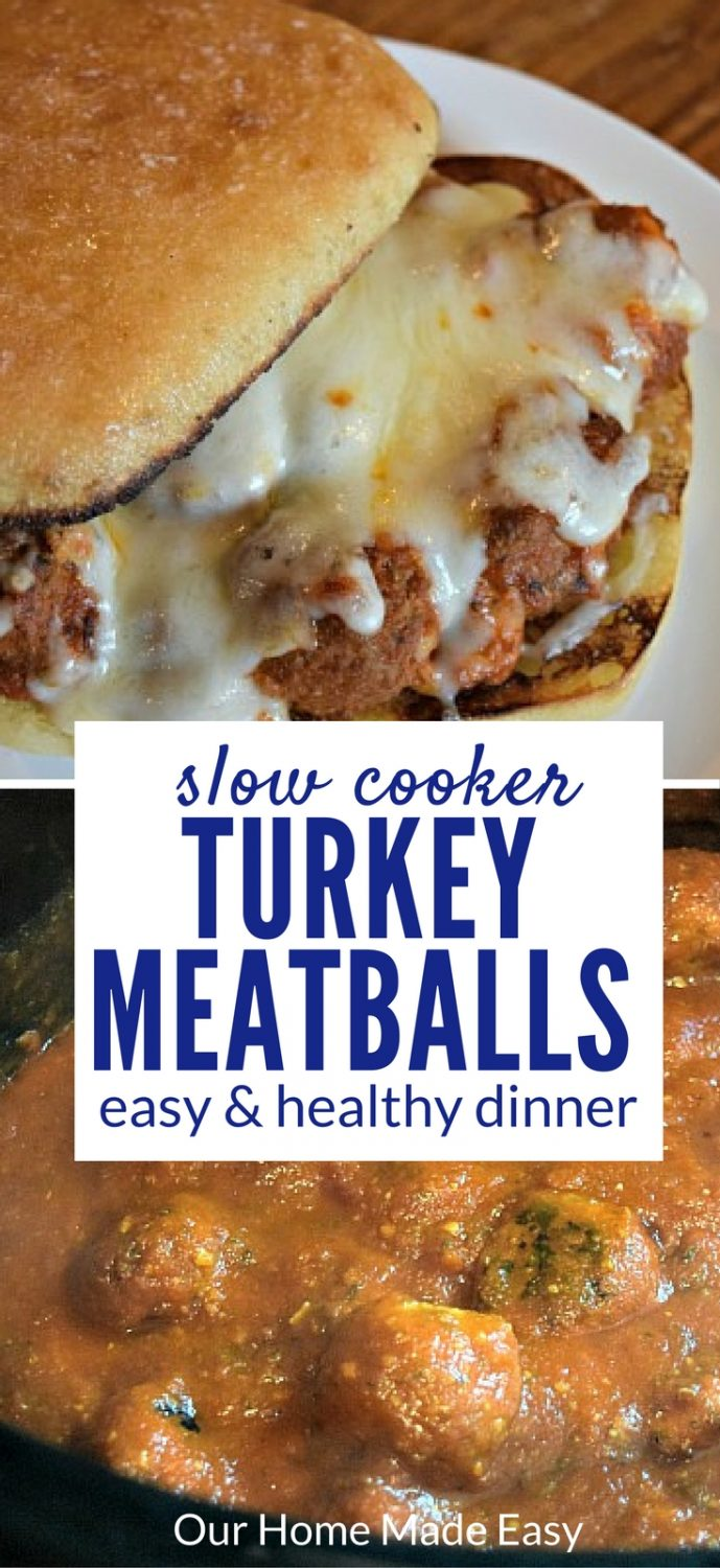 Here is an easy slow cooker recipe for turkey meatballs. They are perfect for a work night when you want comfort food, but without any hard work!