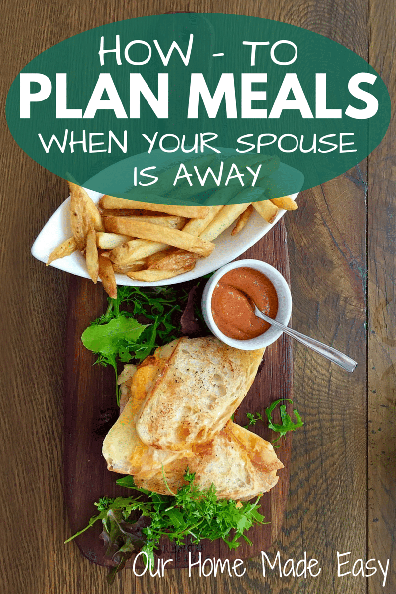 An easy How-To in planning week night meals when your other half is out of town for work. It's a little bit of preparation that saves you lots of time during the week! Click to see the tips!