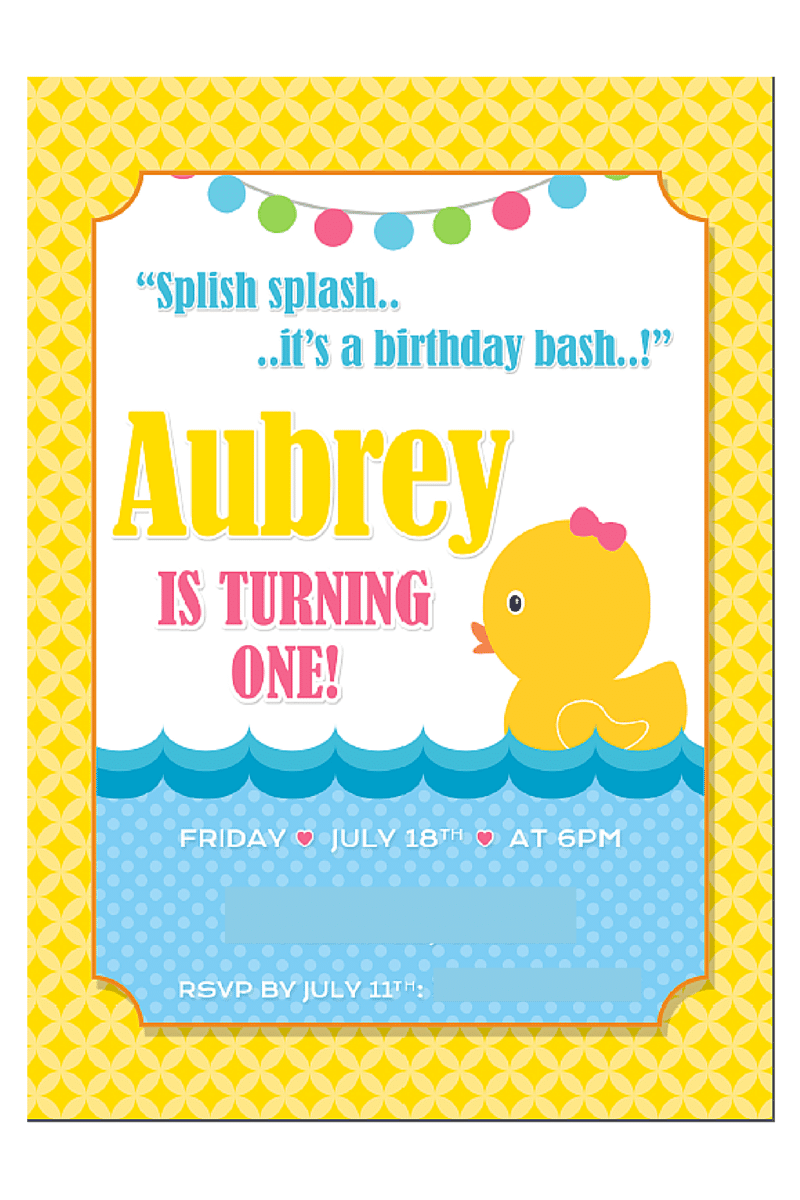Let's Plan a Party: Rubber Ducky Birthday Party Ideas ...