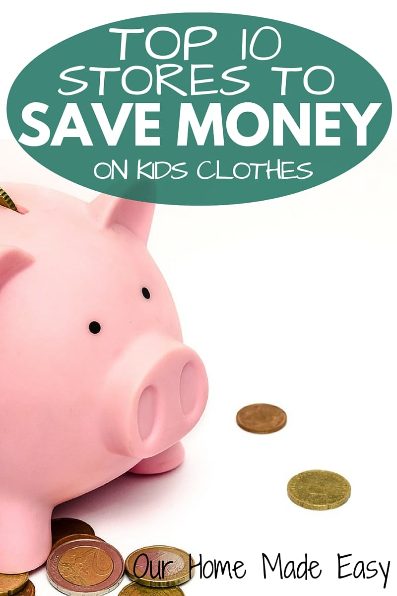 Top 10 of the best places to shop and save money on kids clothes! My go-to list of places to check for growing little ones!