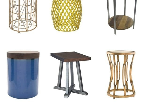 a list of 19 adorable and afforable end tables all are less than 100 apiece