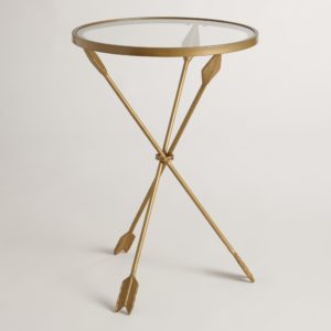 The Arley Accent Table has unique arrows for table legs