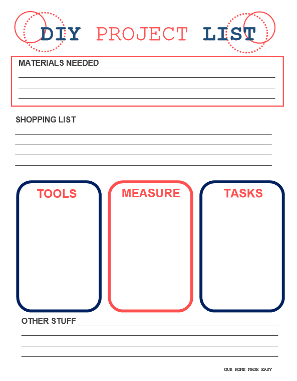 if you're taking on your own DIY project, this printable to-do list is exactly what you need