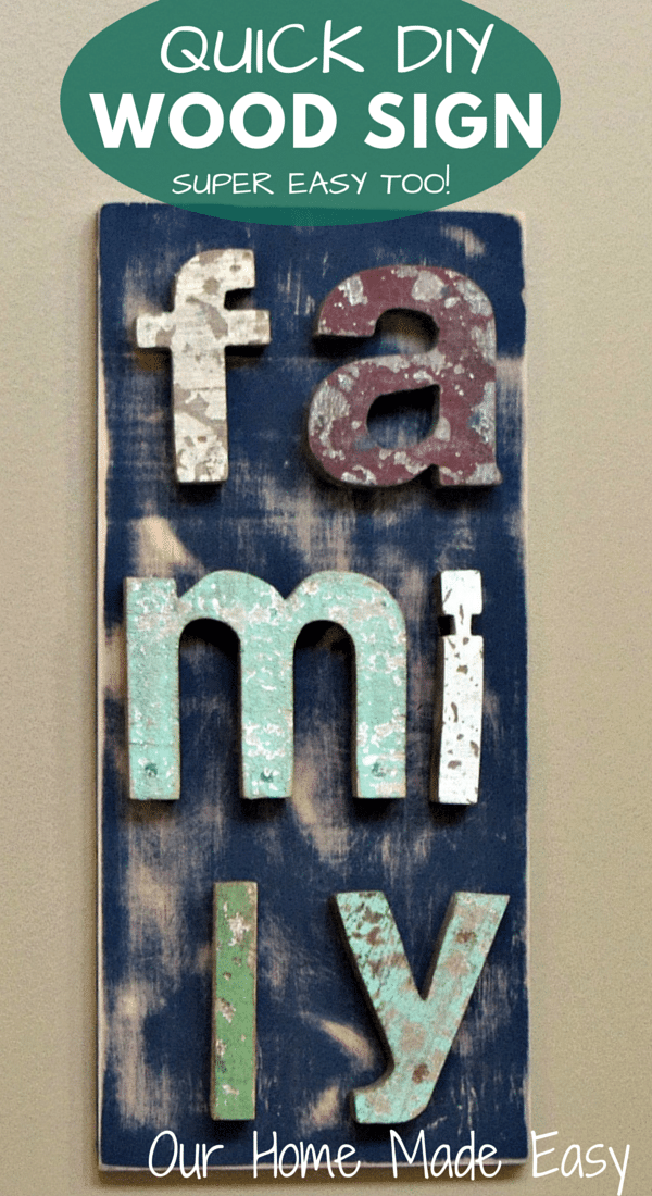 ... DIY wood wall art! An easy way to use up leftover paint, spare wood, and letters! Any