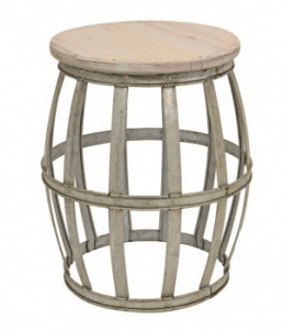 This Woven Barrel Accent Table makes a statement in your living room