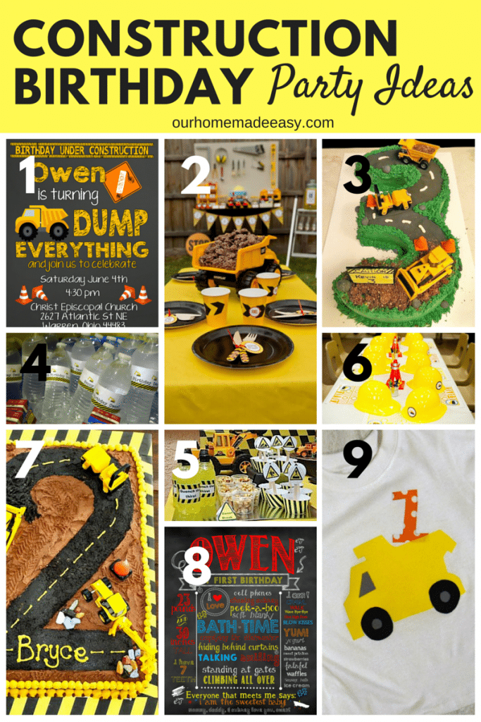 A cute collection of Construction Birthday party ideas for a party! Click to see how you can personalize your own party and do it yourself!
