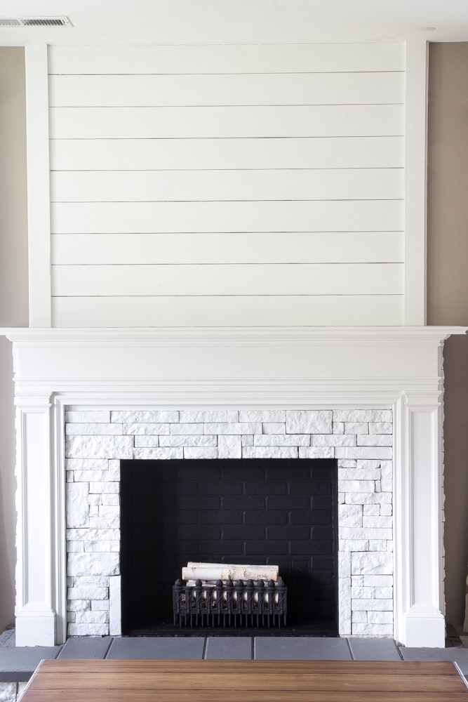 The fireplace at blesserhouse.com as inspiration for a Master bedroom decor! Click to see all the entire room design plans!