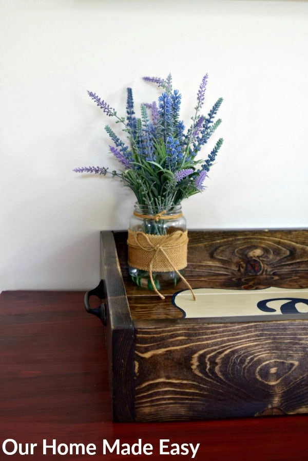 This wood tray is a lovely farmhouse style DIY wood project that only costs about $10 to complete