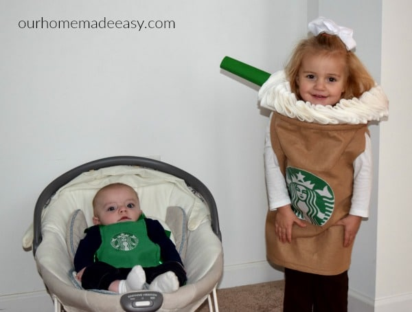 Make your own Starbucks Halloween Costume! This step by step tutorial includes picture sof the  sc 1 st  Our Home Made Easy & Starbucks Halloween Costume u2022 Our Home Made Easy