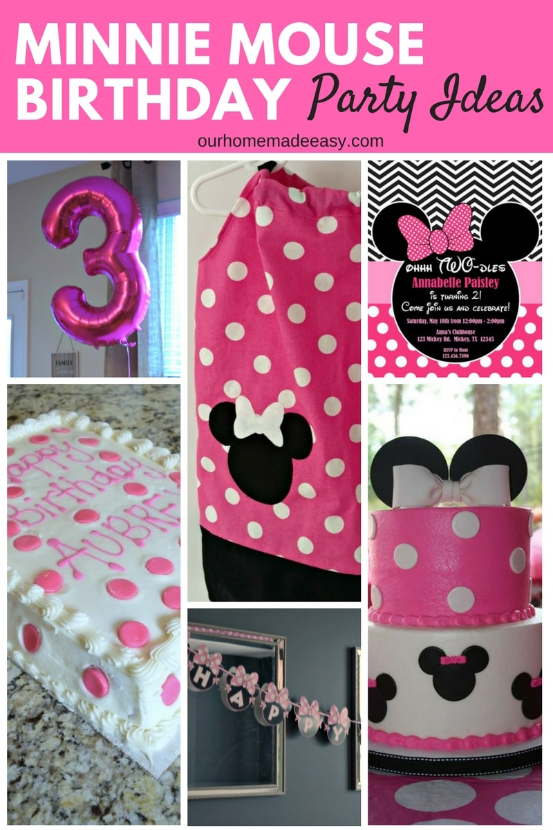 Minnie mouse birthday party our home made easy minnie mouse birthday party ideas see how we used minnie at our little girls amipublicfo Choice Image