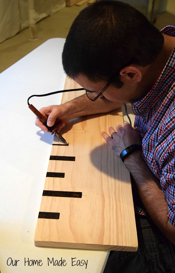 Make your own Wood Ruler Growth Chart. This tutorial will step you through making your piece of functional art.