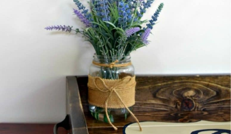 Make an Easy DIY Wood Tray Quickly and for Cheap!