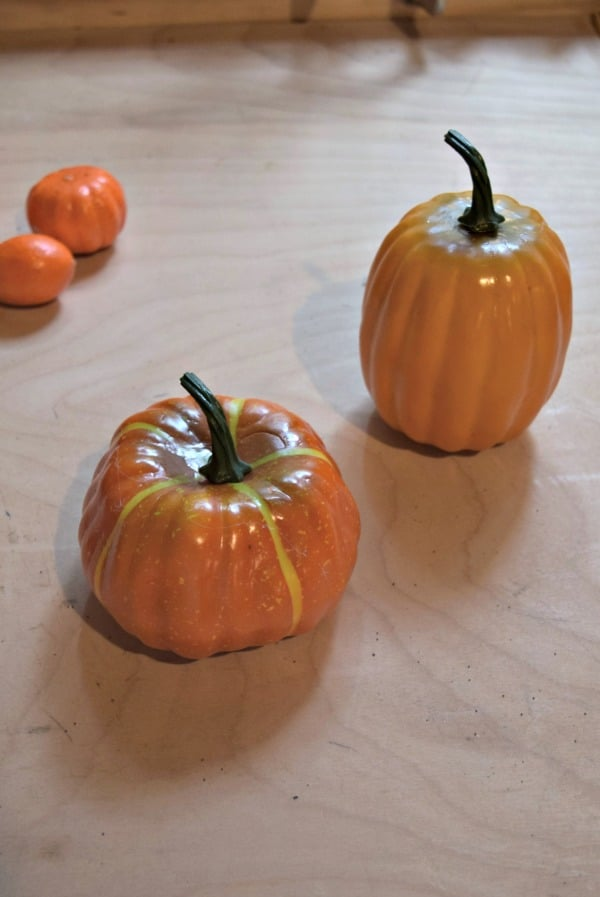 Dollar Store pumpkins are the easiest way to make your own knock off Pottery Barn pumpkin fillers