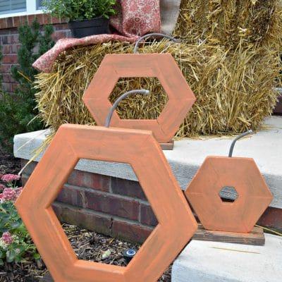 Hexagon DIY Wood Pumpkins