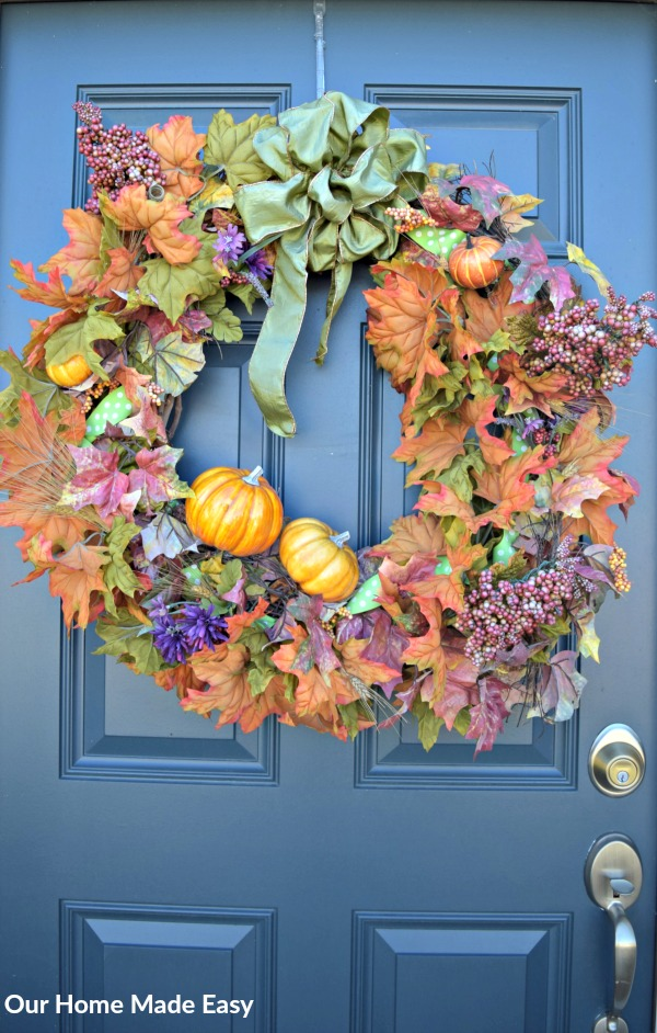 A small front porch decorated for fall! Includes a few DIY projects with easy home decor that any busy mom can knock out during naptime!