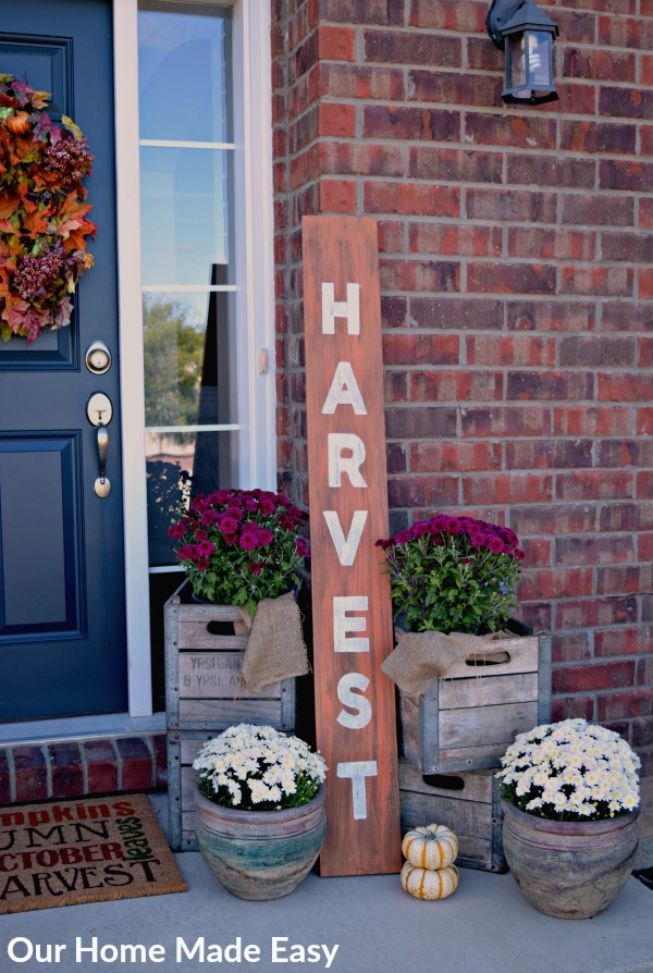 "Overwhelmed at the thought of decorating? This post will step you through ""How to Decorate Your Front Porch"" in only 5 steps. Click to see how another busy mom does it!"