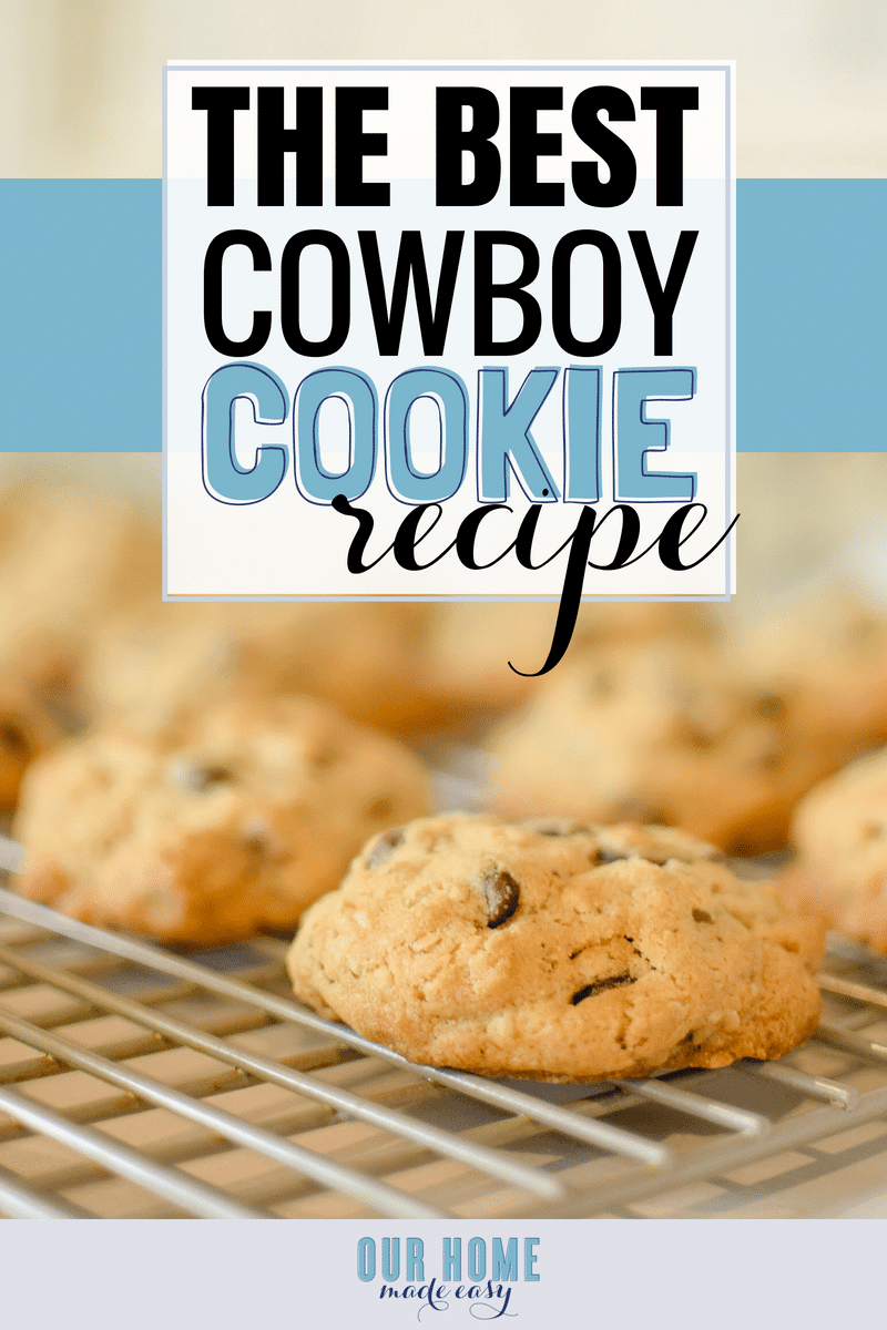 Make this super easy cowboy cookie today! It's the ultimate chocolate chip cookie that you'll never share.