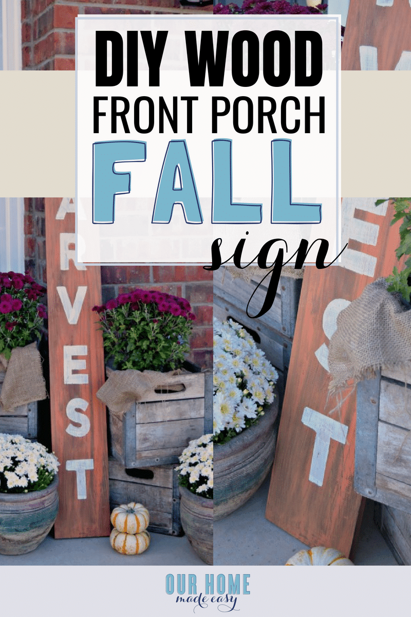 Make this wood fall sign easily! Simply choose your favorite stains, paints, and then stencil!