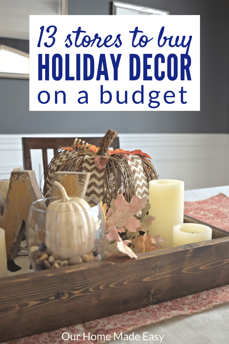 Here are 13 great (and cheap) places to buy holiday decor! Have fun shopping and don't worry that you're spending too much $$$
