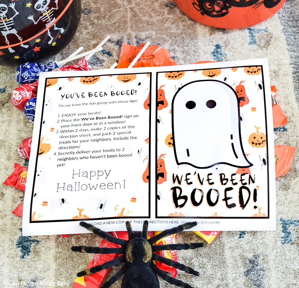 The You've Been Booed Game is a great activity to share with neighbors and friends to ignite the spirit of Halloween