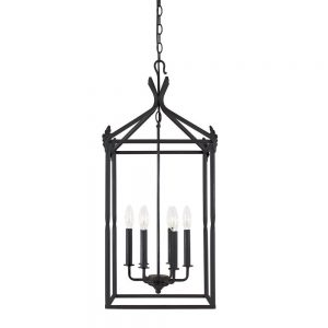 rustic lantern style foyer chandelier