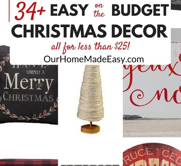 A list of budget friendly items to add to your Christmas decor! Click to see the more than 30 items!
