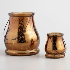 Decorate your Christmas table with these mercury glass lanterns