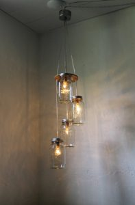 mason jar hanging foyer chandelier