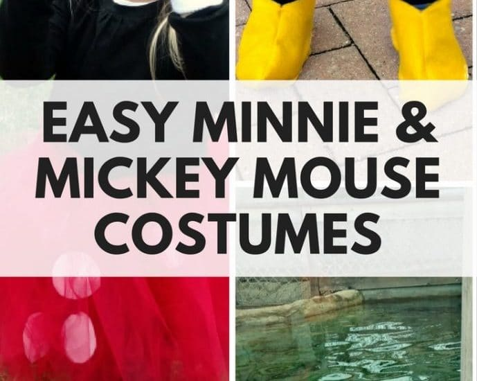 Easy Mickey & Minnie Mouse Halloween Costumes!