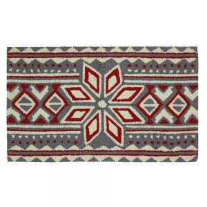 Welcome your visitors with this Nordic snowflake patterned welcome mat