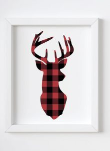 This plaid deer printable is a subtle festive print for Christmas
