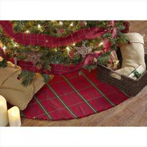 This festive flannel tree skirt will look great under your Christmas tree
